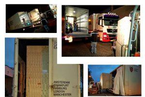 Transport of a 2 tonnes industrial 3D printer