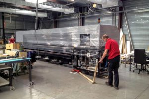 superwide UV printer relocation from Belgium to The Netherlands