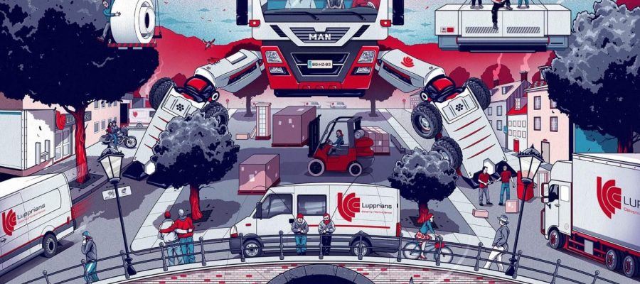 Lupprians' 15 year anniversary wall graphic by Chris B. Murray